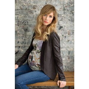 Jessica Simpson Brown Faux Leather Lightweight M